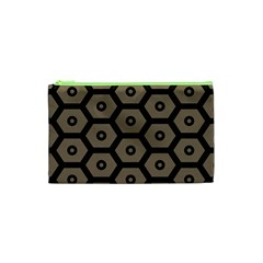 Black Bee Hive Texture Cosmetic Bag (XS)