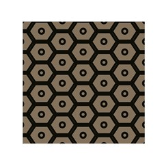 Black Bee Hive Texture Small Satin Scarf (square)