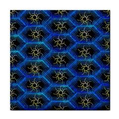 Blue Bee Hive Tile Coasters