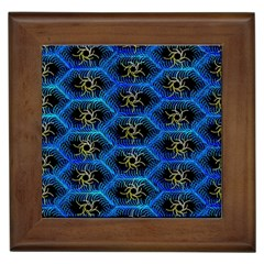 Blue Bee Hive Framed Tiles