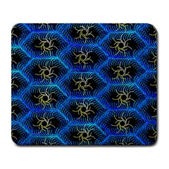 Blue Bee Hive Large Mousepads