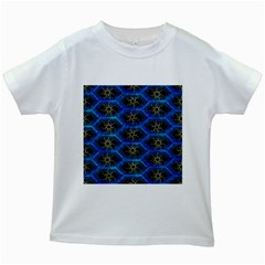 Blue Bee Hive Kids White T-Shirts