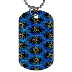Blue Bee Hive Dog Tag (one Side)