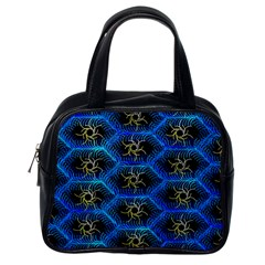 Blue Bee Hive Classic Handbags (One Side)