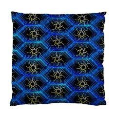Blue Bee Hive Standard Cushion Case (two Sides)