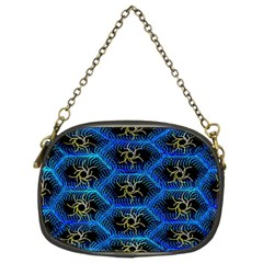 Blue Bee Hive Chain Purses (two Sides)