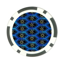 Blue Bee Hive Poker Chip Card Guard (10 Pack)