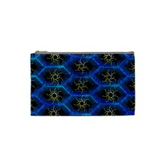 Blue Bee Hive Cosmetic Bag (small)