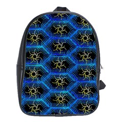 Blue Bee Hive School Bags(large)