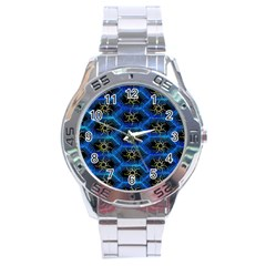 Blue Bee Hive Stainless Steel Analogue Watch