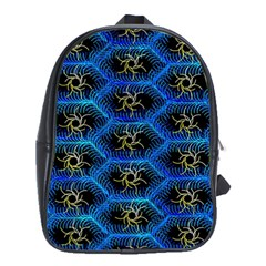 Blue Bee Hive School Bags (xl)