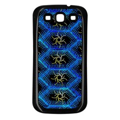 Blue Bee Hive Samsung Galaxy S3 Back Case (black)