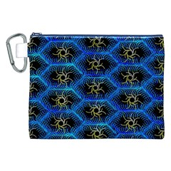 Blue Bee Hive Canvas Cosmetic Bag (xxl)