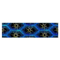 Blue Bee Hive Satin Scarf (oblong)