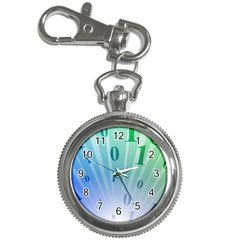Blue Binary Background Binary World Binary Flow Hand Key Chain Watches