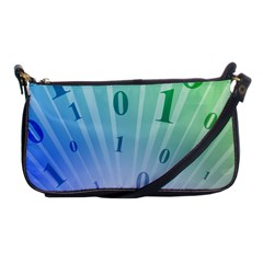 Blue Binary Background Binary World Binary Flow Hand Shoulder Clutch Bags
