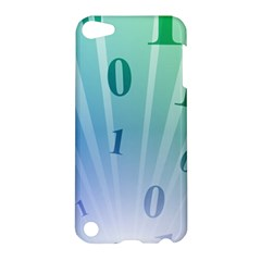 Blue Binary Background Binary World Binary Flow Hand Apple Ipod Touch 5 Hardshell Case