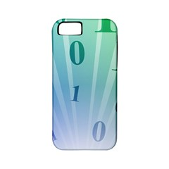 Blue Binary Background Binary World Binary Flow Hand Apple Iphone 5 Classic Hardshell Case (pc+silicone)
