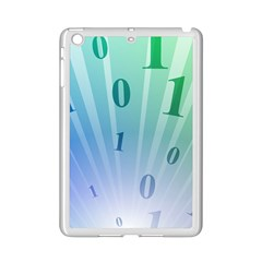 Blue Binary Background Binary World Binary Flow Hand Ipad Mini 2 Enamel Coated Cases