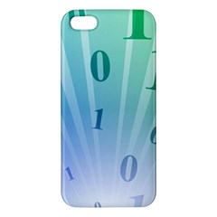 Blue Binary Background Binary World Binary Flow Hand Apple Iphone 5 Premium Hardshell Case