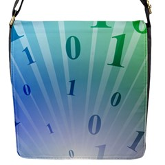 Blue Binary Background Binary World Binary Flow Hand Flap Messenger Bag (s)