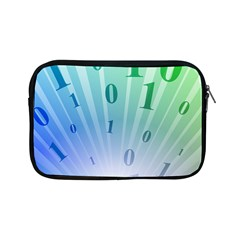 Blue Binary Background Binary World Binary Flow Hand Apple Ipad Mini Zipper Cases