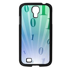 Blue Binary Background Binary World Binary Flow Hand Samsung Galaxy S4 I9500/ I9505 Case (black)