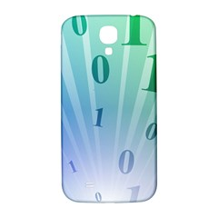 Blue Binary Background Binary World Binary Flow Hand Samsung Galaxy S4 I9500/i9505  Hardshell Back Case