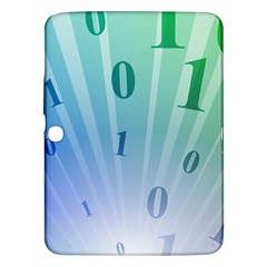 Blue Binary Background Binary World Binary Flow Hand Samsung Galaxy Tab 3 (10 1 ) P5200 Hardshell Case