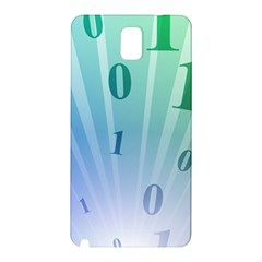 Blue Binary Background Binary World Binary Flow Hand Samsung Galaxy Note 3 N9005 Hardshell Back Case
