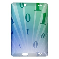 Blue Binary Background Binary World Binary Flow Hand Amazon Kindle Fire Hd (2013) Hardshell Case