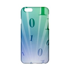 Blue Binary Background Binary World Binary Flow Hand Apple Iphone 6/6s Hardshell Case