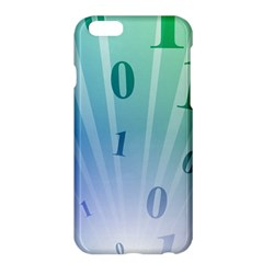 Blue Binary Background Binary World Binary Flow Hand Apple Iphone 6 Plus/6s Plus Hardshell Case