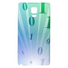 Blue Binary Background Binary World Binary Flow Hand Galaxy Note 4 Back Case