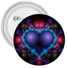 Blue Heart 3  Buttons