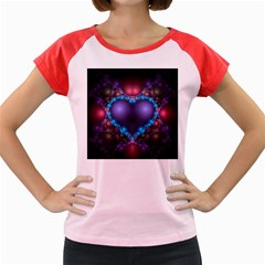 Blue Heart Women s Cap Sleeve T-Shirt