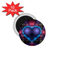 Blue Heart 1 75  Magnets (10 Pack)