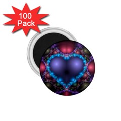 Blue Heart 1 75  Magnets (100 Pack)
