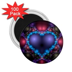 Blue Heart 2 25  Magnets (100 Pack)