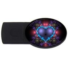 Blue Heart USB Flash Drive Oval (2 GB)