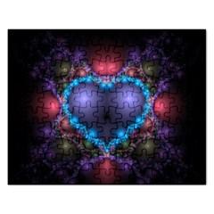 Blue Heart Rectangular Jigsaw Puzzl