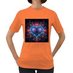 Blue Heart Women s Dark T Shirt