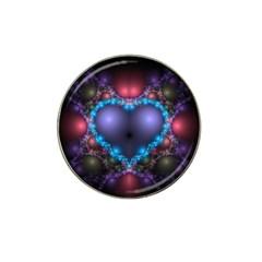 Blue Heart Hat Clip Ball Marker (10 Pack)