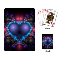 Blue Heart Playing Card