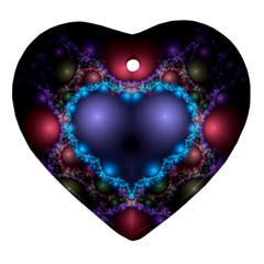 Blue Heart Heart Ornament (two Sides)