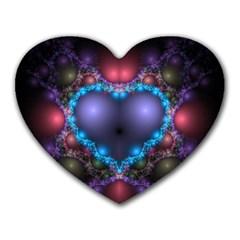 Blue Heart Heart Mousepads
