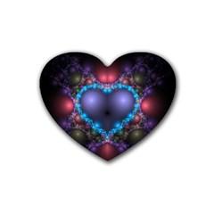 Blue Heart Heart Coaster (4 Pack)