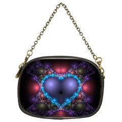 Blue Heart Chain Purses (two Sides)