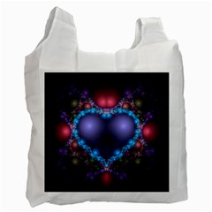Blue Heart Recycle Bag (one Side)