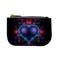 Blue Heart Mini Coin Purses
